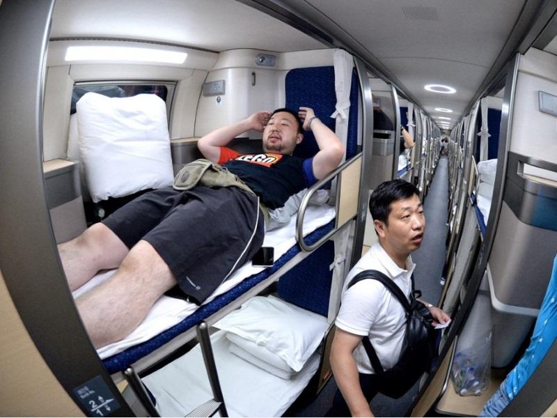 китайский плацкартный вагон