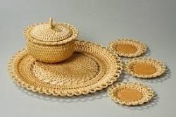 вятское ремесло из плетеного корня сосны