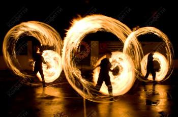 огненные шоу и иллюзии